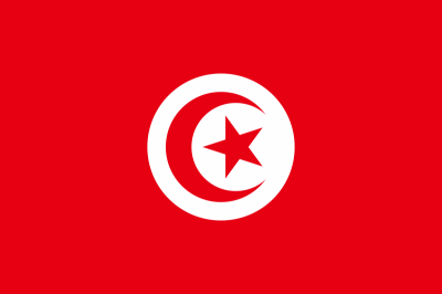 The Flag of Tunisia